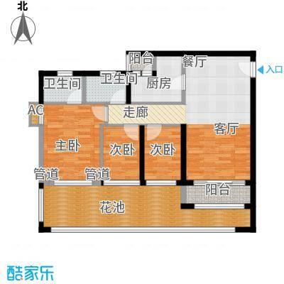 祈福新村翠怡居93.00㎡户面积9300m户型