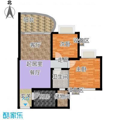 顺德碧桂园芷兰湾93.00㎡面积9300m户型