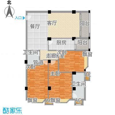 亚太新城136.00㎡F07、E10面积13600m户型