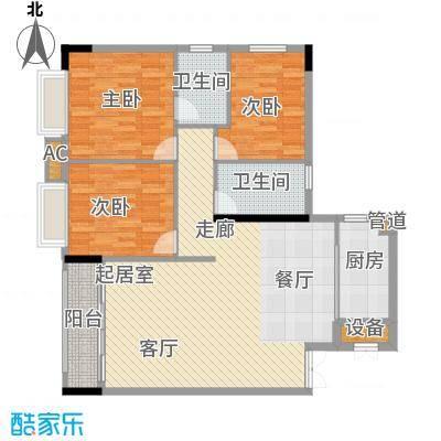 柏涛雅苑107.63㎡面积10763m户型