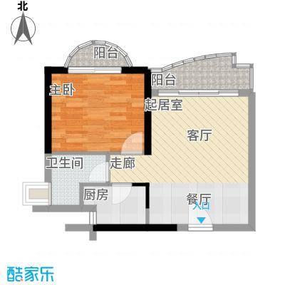 历德雅舍56.00㎡F栋C/D单元1室面积5600m户型