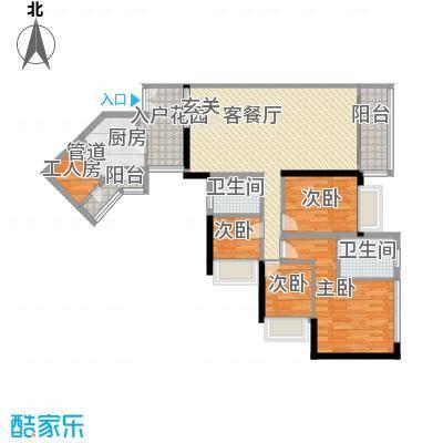 隽园126.41㎡G单元睿智家园4室2面积12641m户型