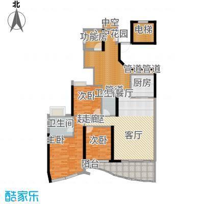 历德雅舍137.77㎡H栋A单元4室面积13777m户型