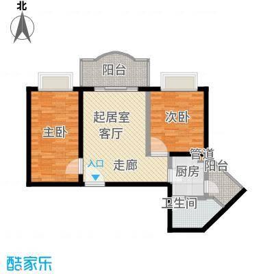 海珠信步闲庭78.12㎡面积7812m户型