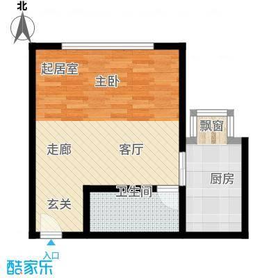MBA国际公寓50.00㎡面积5000m户型