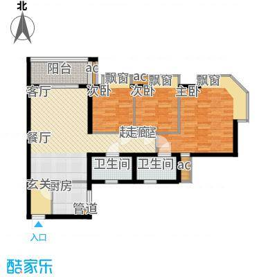 海伦堡御院94.36㎡1座三至二十五面积9436m户型