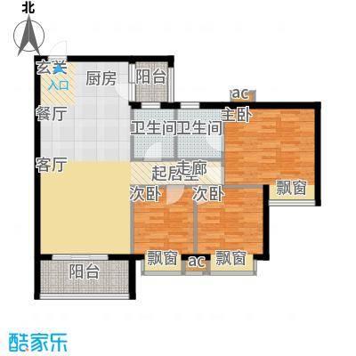 海伦堡御院95.99㎡7座三至五层0面积9599m户型