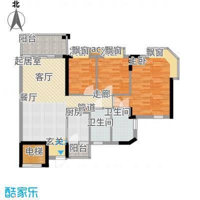 海伦堡御院94.30㎡15座1梯5层1单面积9430m户型