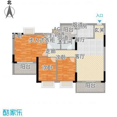 锦绣御景苑122.61㎡1栋01-02单位面积12261m户型