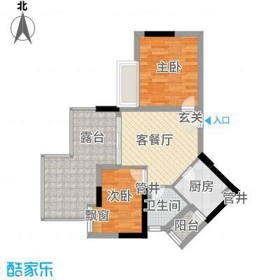 天河南兴花园72.04㎡南兴花园E1面积7204m户型