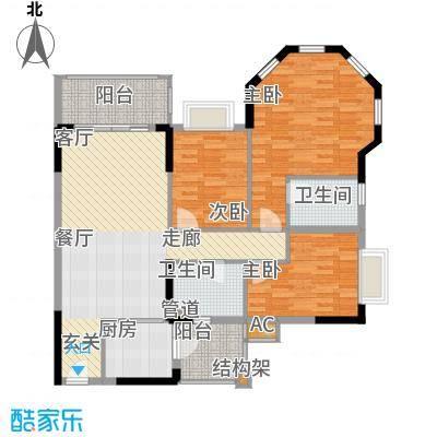 锦绣御景苑112.86㎡1栋05--06单位面积11286m户型