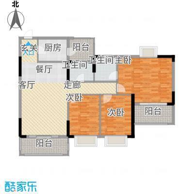 锦绣御景苑122.51㎡1栋07-08单位面积12251m户型