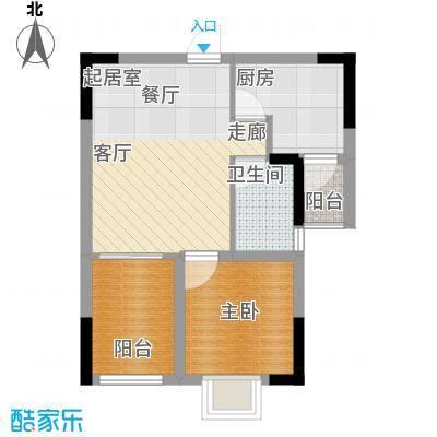 紫泉翠荔嘉园47.75㎡40-41栋D户面积4775m户型