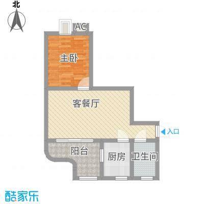 天河南兴花园56.16㎡面积5616m户型