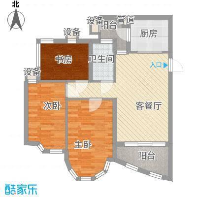 祈福新村绿怡居82.00㎡户面积8200m户型