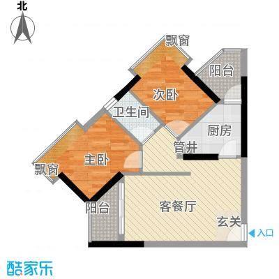 天河南兴花园75.56㎡南兴花园E1面积7556m户型