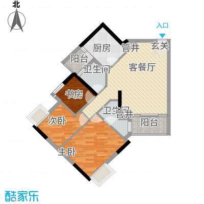 天河南兴花园93.81㎡南兴花园E1面积9381m户型