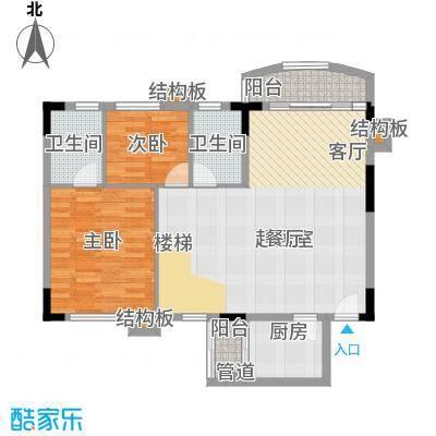 东怡新区东裕园89.00㎡户面积8900m户型