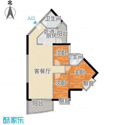 江南苑102.57㎡C栋01单元3室面积10257m户型