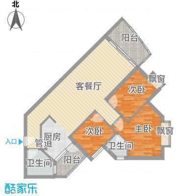 江南苑104.21㎡B栋5-21层06单位面积10421m户型
