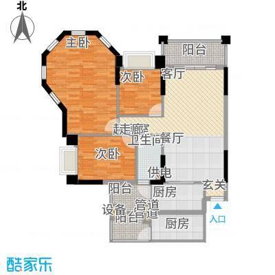 锦绣新天地103.14㎡东景雅筑24座面积10314m户型