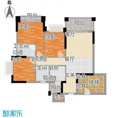 锦绣新天地107.93㎡12座05、0面积10793m户型