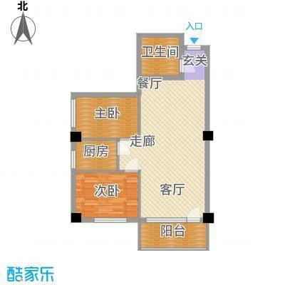 春江花园78.00㎡2面积7800m户型
