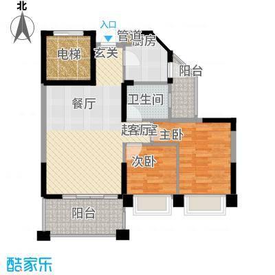 锦绣新天地74.35㎡东景雅筑17座面积7435m户型