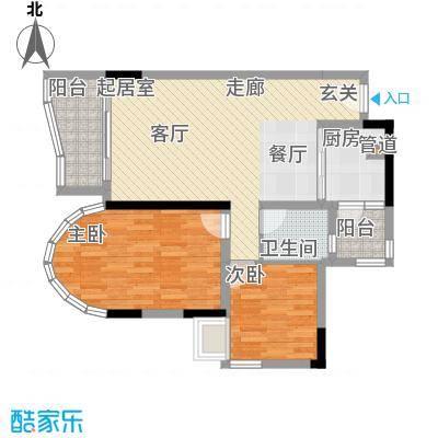 颐景华苑88.00㎡沁雅园颐乐轩08面积8800m户型