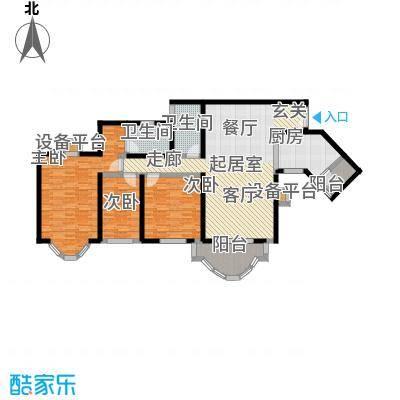 祈福新村晓峰园128.00㎡户面积12800m户型