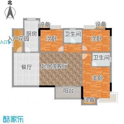 美力盈彩花苑130.88㎡B栋04面积13088m户型