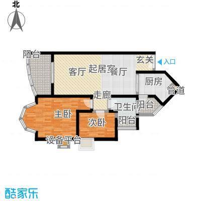 祈福新村晓峰园86.00㎡户面积8600m户型