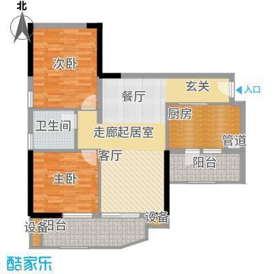 翠城花园87.51㎡21栋5-33层03单面积8751m户型