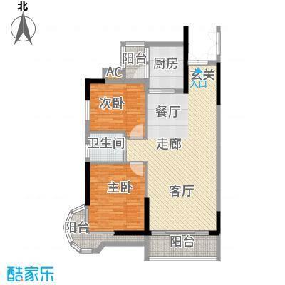 金竹家园82.30㎡1期10幢标准层0面积8230m户型