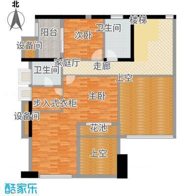 城启天鹅湾266.22㎡D栋02复式面积26622m户型
