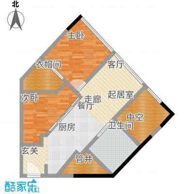 瑞安花园70.00㎡二期国际公寓面积7000m户型