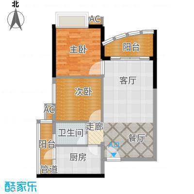 华景新城芳满庭园78.00㎡面积7800m户型