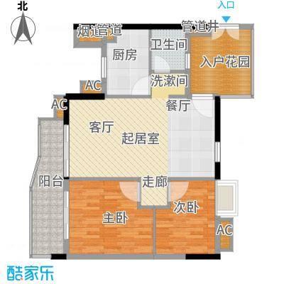 富力银禧花园82.38㎡A5-022面积8238m户型