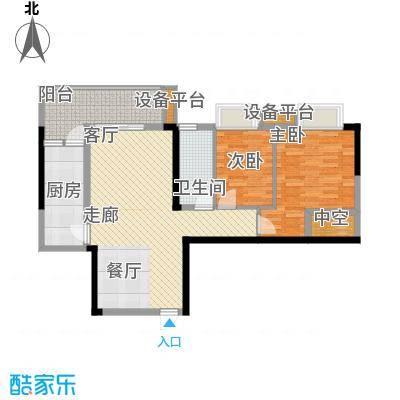 珠江都荟87.26㎡A3栋3-7层04单位面积8726m户型