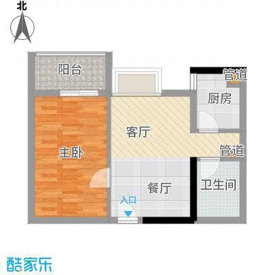 淘金家园47.19㎡三期05单元1室面积4719m户型