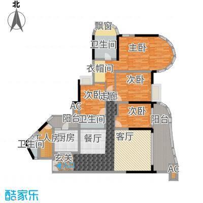 珠江帝景苑171.22㎡克莱金殿04、面积17122m户型