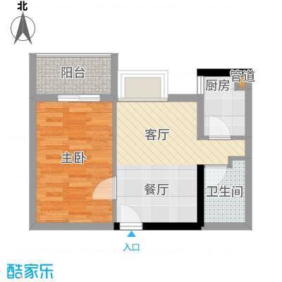 淘金家园47.00㎡05单元北向1室面积4700m户型
