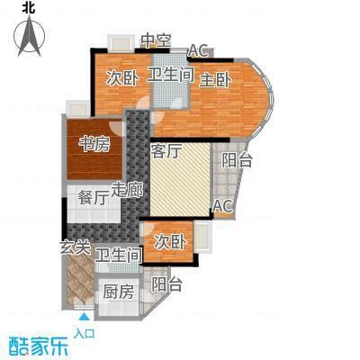 珠江帝景苑149.11㎡F栋D、E面积14911m户型