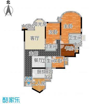 珠江帝景苑196.00㎡克莱国际公寓面积19600m户型