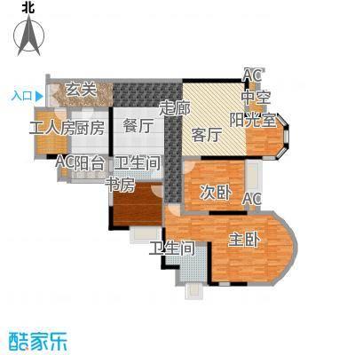 珠江帝景苑165.00㎡公寓F座G单元面积16500m户型