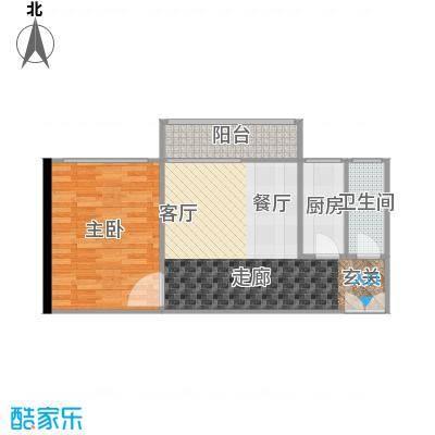 珠江帝景苑60.00㎡面积6000m户型
