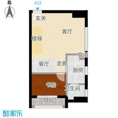 铂林国际公寓51.58㎡C10首层面积5158m户型