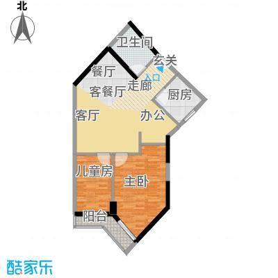 马赛国际公寓77.00㎡面积7700m户型