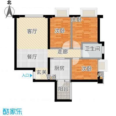 铂林国际公寓80.00㎡面积8000m户型