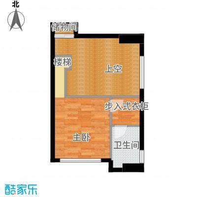 铂林国际公寓51.58㎡C10二层面积5158m户型
